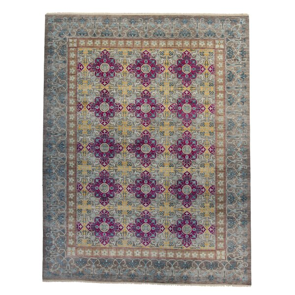 One-of-a-Kind Tamia Hand-Knotted 8 x 10 Wool Gray Area Rug by Bungalow Rose