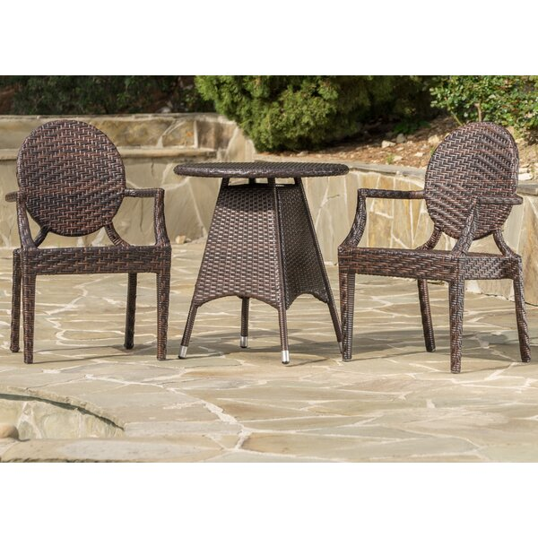 Carbonell Outdoor Wicker Bistro Set by Mercury Row