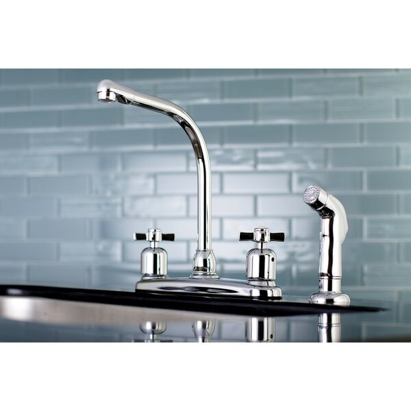 Millennium Hot & Cold Water Dispenser Double Handle Kitchen Faucet with Side Spray by Kingston Brass