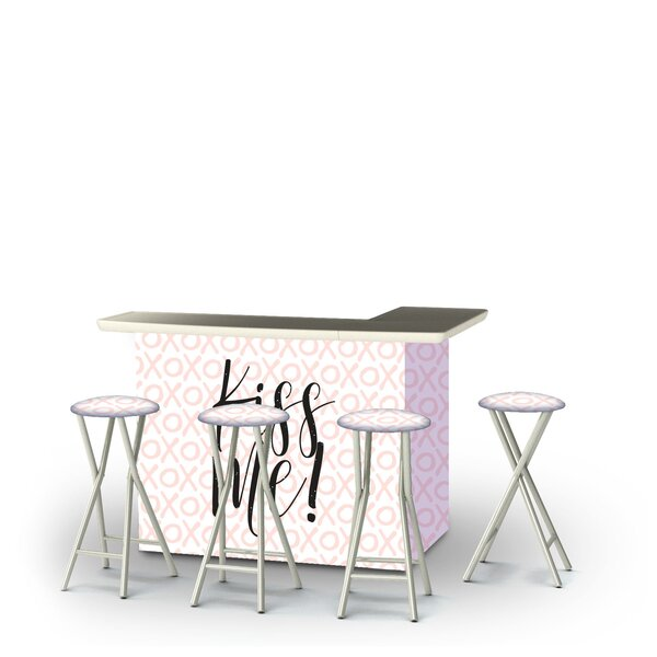Adna Valentines Kiss Me 5-Piece Bar Set by East Urban Home