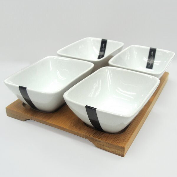 Ilic 5 Piece Porcelain Appetizer Set by Ebern Designs