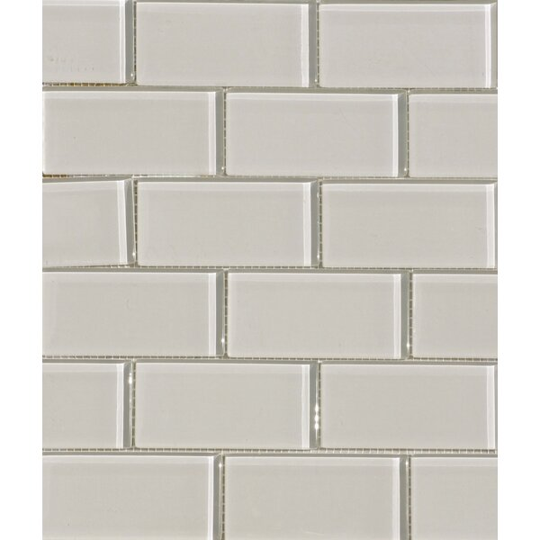 2 x 4 Glass Subway Tile in Mist by The Bella Collection