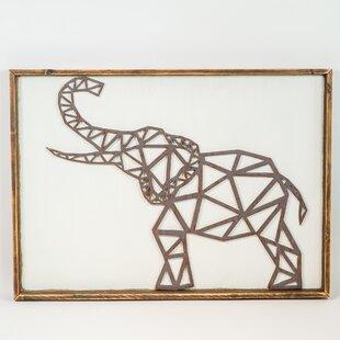 Geometric Elephant Wall Décor