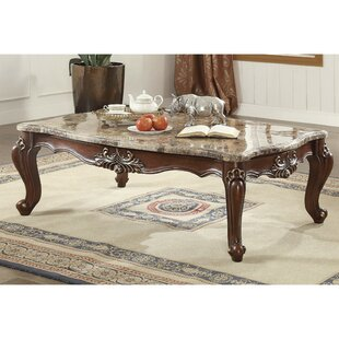 Tunstall Marble and Wood Coffee Table