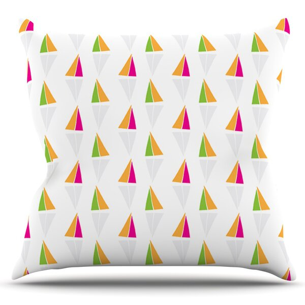 Triangles by Apple Kaur Designs Outdoor Throw Pillow by East Urban Home
