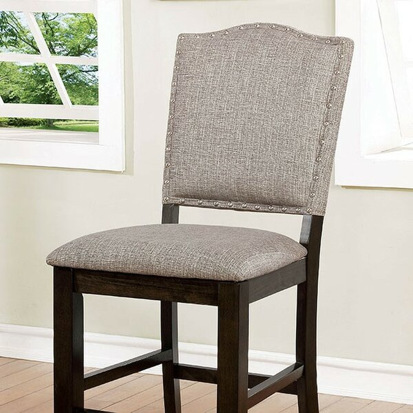Len Counter Height Upholstered Dining Chair (Set of 2) by Canora Grey