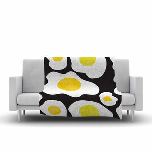 Affordable Vasare Nar Fried Eggs Pattern Pop Art Fleece Blanket ByEast Urban Home