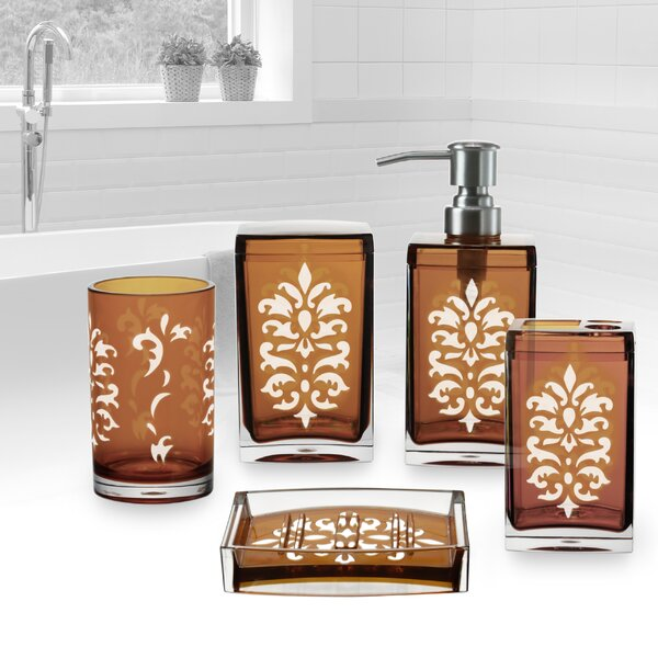 Floral Bathroom Accessory Set (Set of 5) by Immanuel
