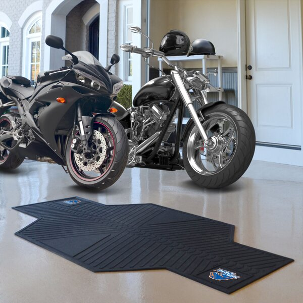 NCAA Boise State University Motorcycle Garage Flooring Roll in Black by FANMATS