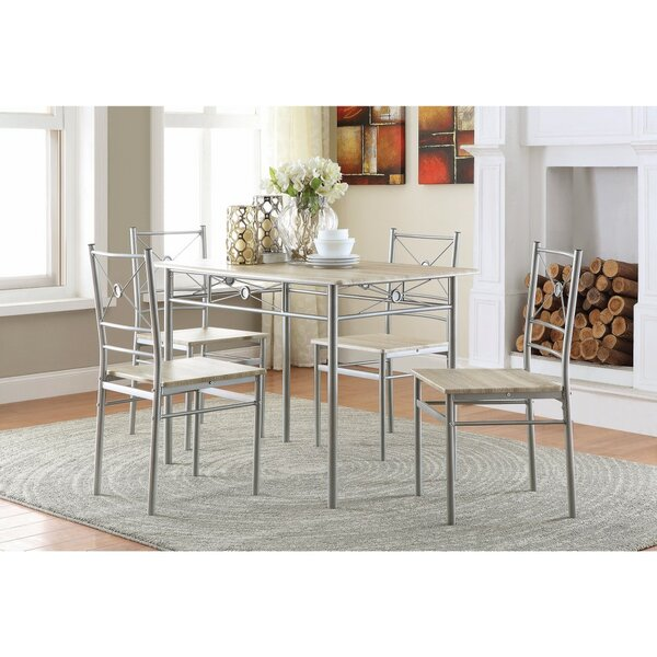 Constandache 5 Piece Dining Set by Ebern Designs
