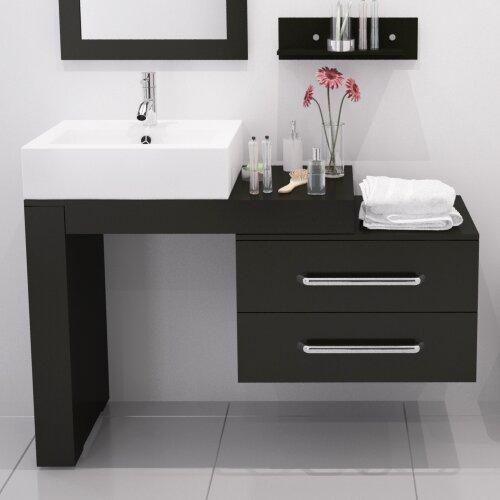 "Bathroom Osborne Park Bathroom: Mercury Row Osborn 57"" Single Wall Mounted Modern Bathroom Vanity Set"