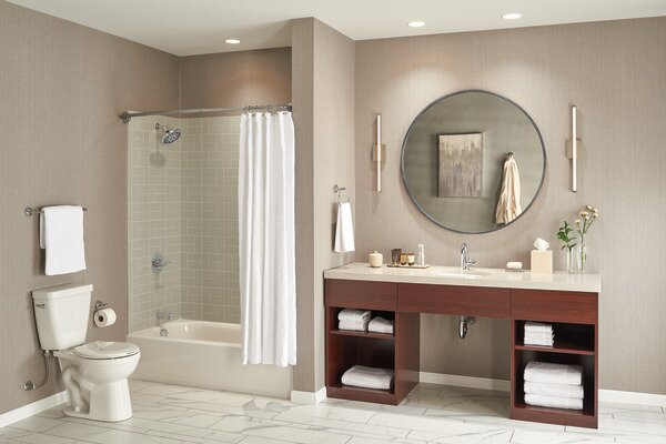 Apex Pressure Balance Tub and Shower Trim Kit with Single Lever Handle by Peerless Faucets Peerless Faucets