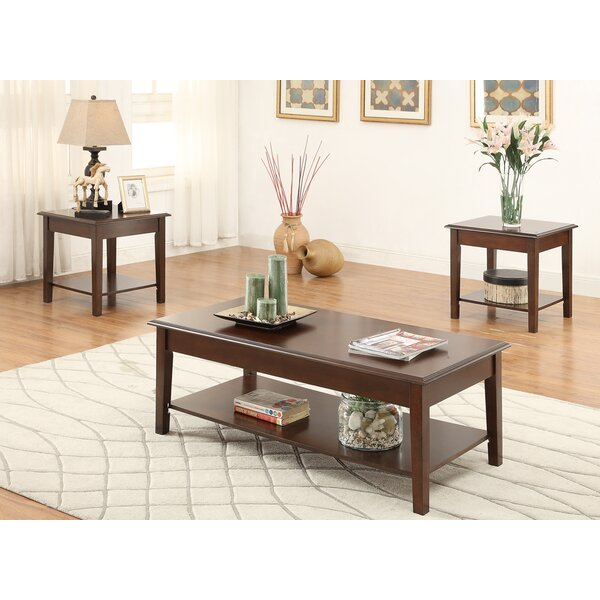 Holz Wooden Top 3 Piece Coffee Table Set by Charlton Home