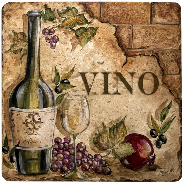 Vino Travertine Ambiance Trivet by Thirstystone