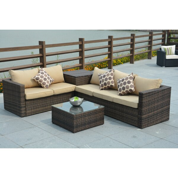 Rippeon 4 Piece Sofa Set with Cushions by Brayden Studio Brayden Studio