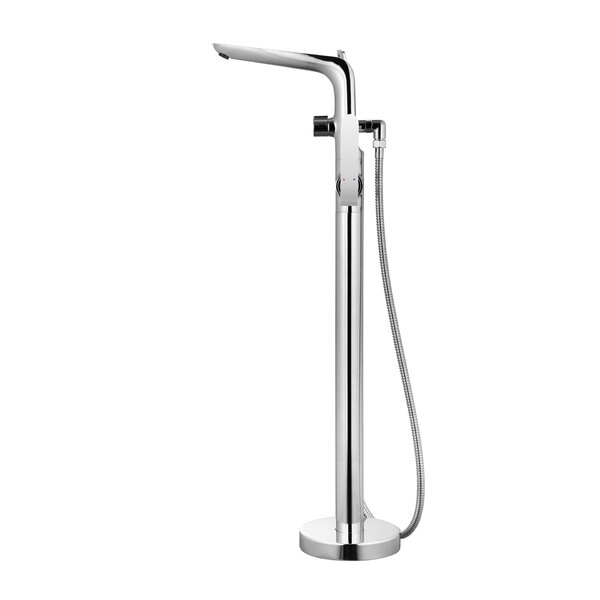 Single Handle Floor Mount Freestanding Tub Filler with Hand Shower by Wildon Home ®