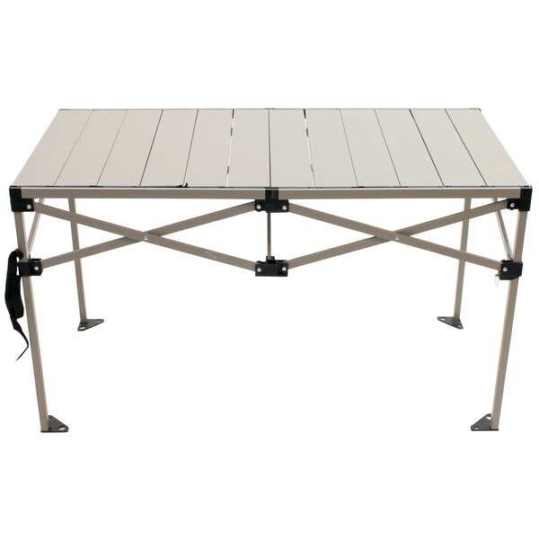 Burlington Roll Top Folding Aluminum Camping Table by Freeport Park