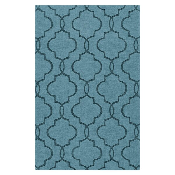 Vasques Slate Blue Area Rug by Wrought Studio