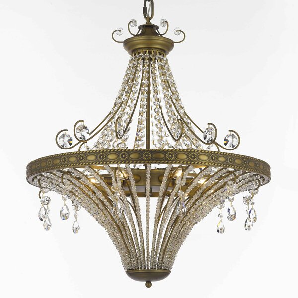 Burchfield 6 - Light Unique / Statement Empire Chandelier with Crystal Accents by Astoria Grand Astoria Grand
