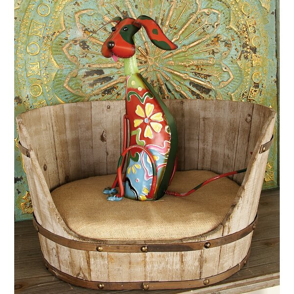 Barnaby Wood and Fabric Dog Bed by Tucker Murphy Pet