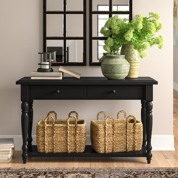 Three Posts Black Console Tables