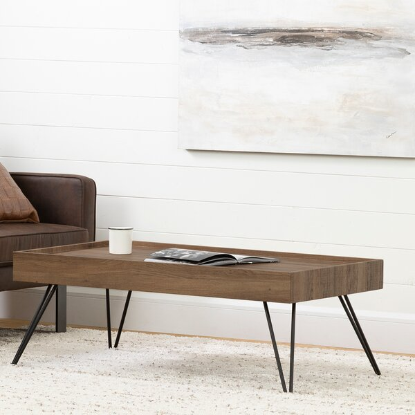 Slendel Coffee Table with Tray Top by South Shore
