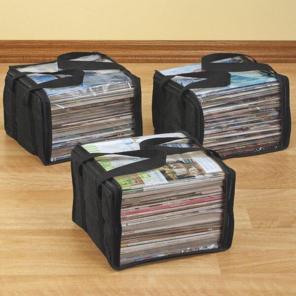 3 Piece Storage Bag Magazine Rack Set by Miles Kimball