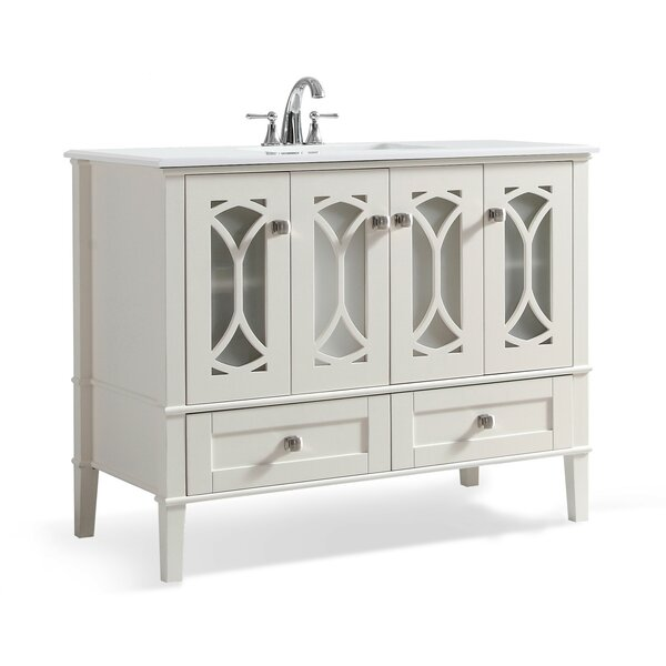 Paige 43 Single Bathroom Vanity Set by Simpli Home