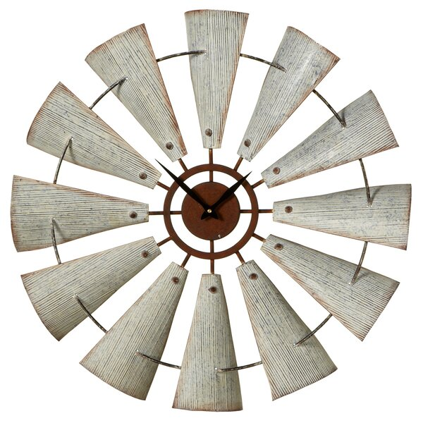 Oversized Elsworth Windmill 27.5 Wall Clock by Gracie Oaks