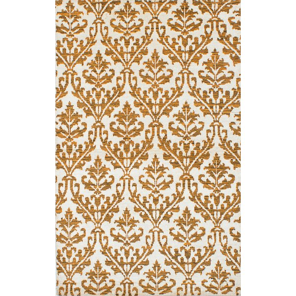 One-of-a-Kind Haskin Hand-Knotted Cream Area Rug by Isabelline