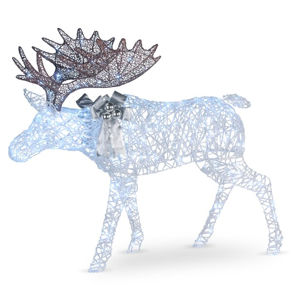 Pre-Lit Moose Decoration Lighted Display by The Holiday Aisle