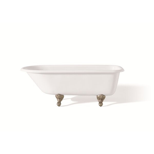 61 x 30 Soaking Bathtub with Faucet Holes In Wall of Tub by Cheviot Products