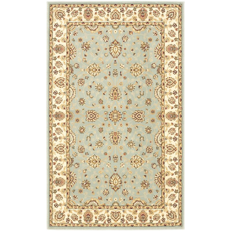 Greatest Light Blue And Cream Area Rug | Wayfair UB55