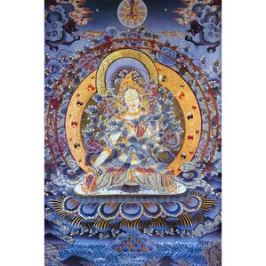 Radiant Tara Tibetan Graphic Art On Wrapped Canvas