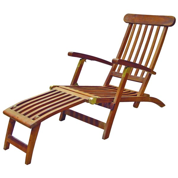 Britannia Folding Steamer Lounge Chair by SeaTeak SeaTeak