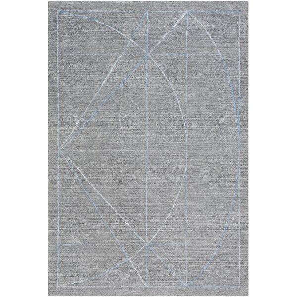 Seifert Hand-Woven Gray/Blue Area Rug by Orren Ellis