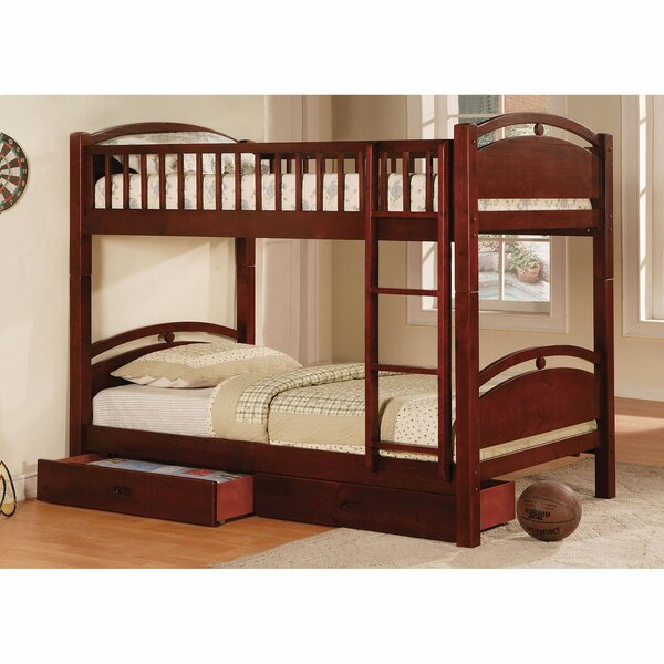 Poe Twin over Twin Bunk Bed with Drawers by Harriet Bee