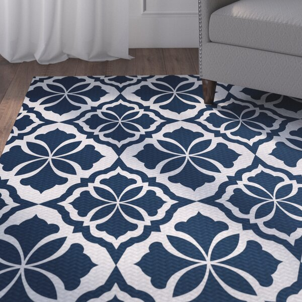 Murdock Blue Indoor/Outdoor Area Rug by Three Posts