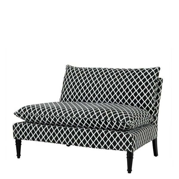Maxwell Diamond Loveseat by Eichholtz