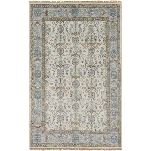 Orland Hand-Knotted Ivory Area Rug by Red Barrel Studio