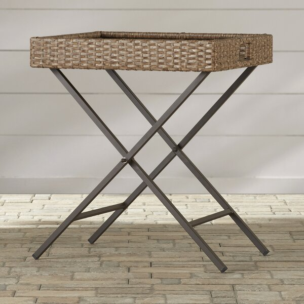 Mendon Folding Side Table by Bay Isle Home