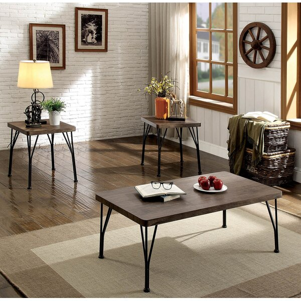 Kondo 3 Piece Coffee Table Set by Williston Forge