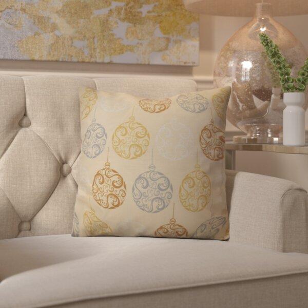 Decorative Holiday Geometric Print Throw Pillow by House of Hampton