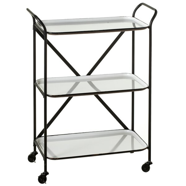 Albinson Enamelware 3 Tier Bar Cart by Gracie Oaks