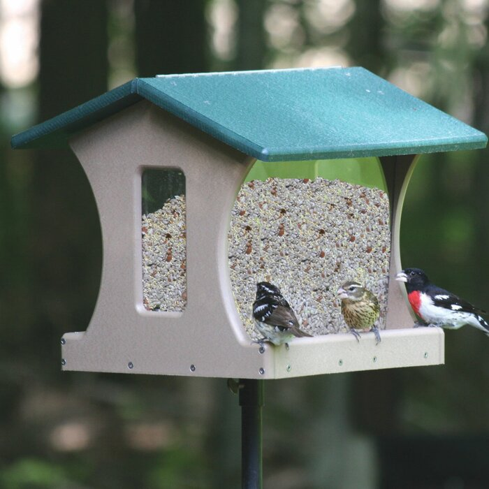 4 Gallon Recycled Hopper Bird Feeder
