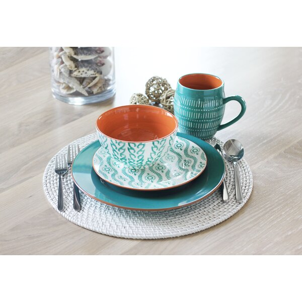 Tangiers 16 Piece Dinnerware Set, Service for 4 by