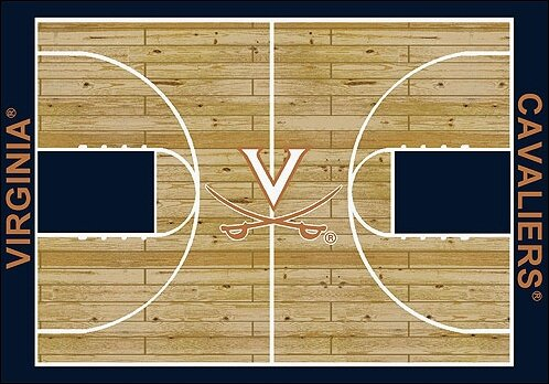 NCAA College Home Court Virginia Novelty Rug by My Team by Milliken