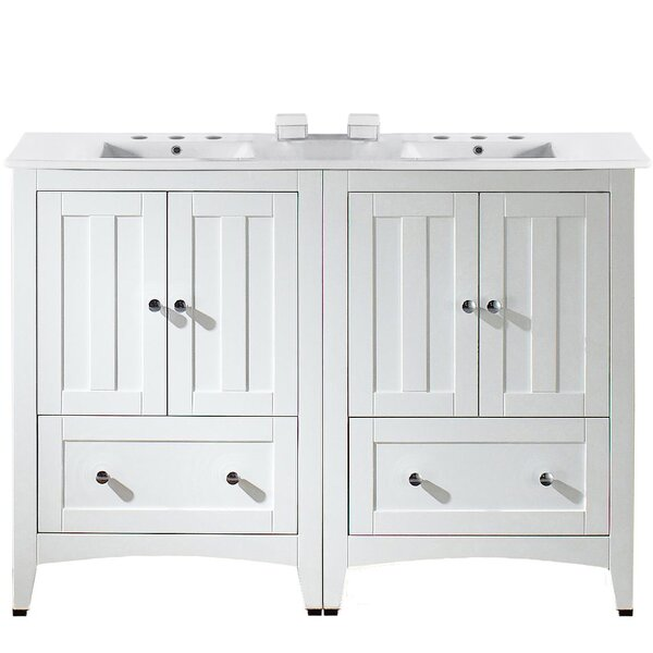 Artic Modern 48 Double Bathroom Vanity Set by Longshore Tides
