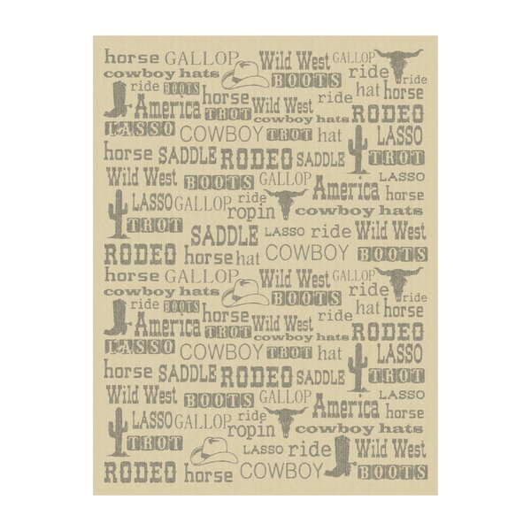 Sergio Wild West Fonts Throw by Millwood Pines