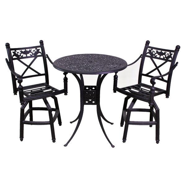 Baldwin 3 Piece Bistro Set by California Outdoor Designs